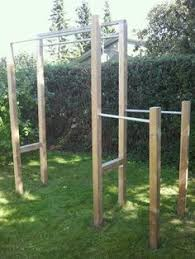 Backyard Pull Up Rig 4x6 Treated Lumber In Concrete 3 Pull Up Backyard Pull Up Bar Plans