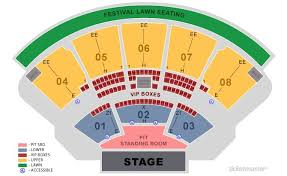 Perfect Vodka Amphitheatre Seating Chart With Seat Numbers Coral Sky Amphitheatre Country Megaticket 2019