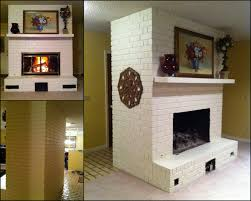 before after painted brick fireplace creative outpour