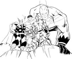 Small Picture Avengers Assemble in Avengers Coloring Page Download Print