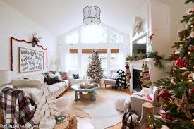 pics of living rooms decorated for christmas. classic-red-and-plaid-christmas-living-room-decor- pics of living rooms decorated for christmas s