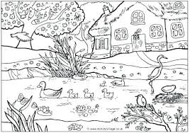 Spring Coloring Pages To Print Spring Coloring Pages Printable For
