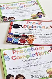 Prek Diploma End Of The Year Graduation Diplomas And Certificates Mrs Jones