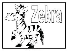 Zebra Print Coloring Sheets Pages For Toddlers Cute Baby Page Free