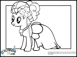 Pony Coloring Page My Little Applejack Minister Horse Printable