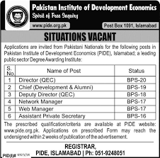 Director Jobs In Pakistan Institute Of Development Economics For ...