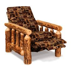 log rustic furniture amish. Amish Rustic Log Cabin Recliner Furniture D