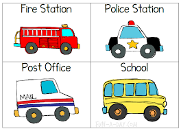 map activity for a community helpers preschool theme using vehicle cards to label a map for a community helpers preschool theme