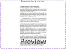 essay on mentorship in nursing custom paper academic writing service essay on mentorship in nursing nursing essay provides excellent essay writing service uk we deliver