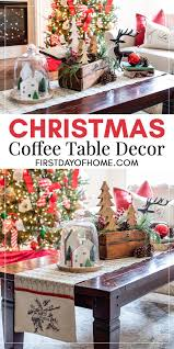 Choosing vastly different styles creates drama in your decor, it's unexpected. How To Style The Best Christmas Coffee Table Decor