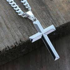 mens cross necklace sterling silver cross necklace elegant cross necklace men