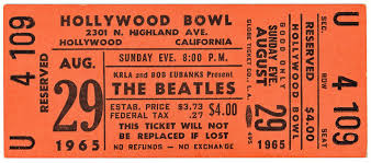 Image result for beatles concert tickets