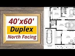 40x60 north facing duplex house plan