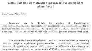 Carta De Motivacion Se Presenta A Una Oferta De Trabajo Con Una Carta De