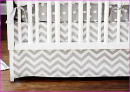 blue and gray chevron baby bedding