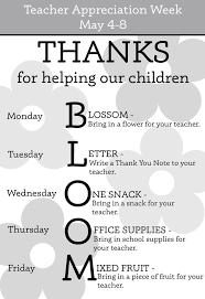 Teacher Appreciation Week Ideas For Every Day Theme Ideas