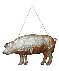 antiqued metal pig wall art on metal pig wall art with antiqued metal pig wall art zulily
