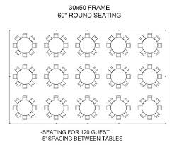 banquet table layout generator 30x50 tent layouts tent floor plans table layout seating spacing