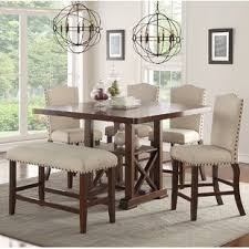 heritage brands furniture dining set big. Chevaliers 6 Piece Counter Height Dining Set Heritage Brands Furniture Big W