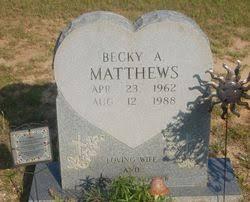 Becky A. O'Neal Matthews (1962-1988) - Find A Grave Memorial