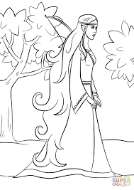 Small Picture Wood Elf Girl coloring page Free Printable Coloring Pages