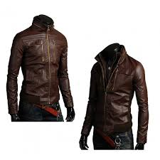men s leather jackets style casual slim fit biker jacket mens