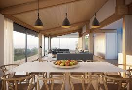 dining table pendant lighting open plan living home on the gower peninsula in south wales