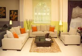 Amazing Orange And Brown Living Room