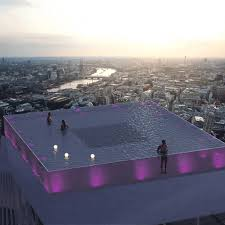 Geometric Swimming Pool Designs Worlds First 360 Degree Infinity Pool Proposed For London