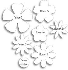 Small Paper Flower Templates Different Flower Patterns Maybe For Making Flower Pins Templates