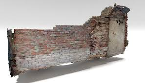 old brick wall 3d model 9 blend