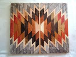 3d wooden geometric art wooden kilim wall art