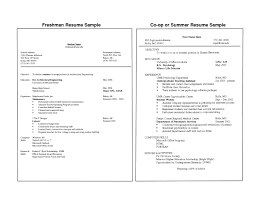 College Freshman Resume Project Scope Template