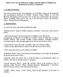 12 Car Usage Policy Templates Guidelines For Using Company Cars