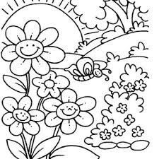 Small Picture Free Spring Coloring Pages Coloring Page Free Spring Coloring