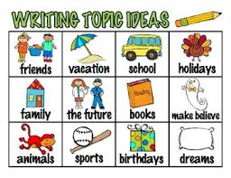 Topic Chart For Writing Writing Topic Ideas Chart