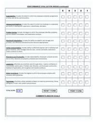 Employee Evaluation Form Template Pdf Maker Free Online – Peero Idea