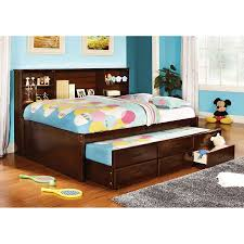 Furniture of America Hardin Cherry Full Platform Bed with Storage at ...
