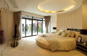 Ceiling Beds Bedroom Casual White Bedroom Design With Round Floating Beds And