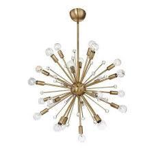24 light warm brass chandelier