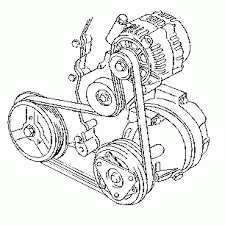 car pictures l belt diagram pictures and diagrams of some common serpentine engine drive belt routing for the gm 2 4 liter