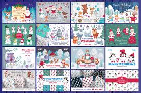 Christmas Bundle Vector Cliparts And Seamless Patterns Free Download Freedownloadae
