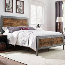 wood and metal bedroom sets. Fine Sets Walker Edison Furniture Company Brown Queen Bed Frame To Wood And Metal Bedroom Sets I