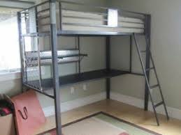 metal bunk bed with desk. Plain Bunk Simple Yet Solid Metal Loft Bed Set With Desk Will Fit Into Both Any  Contemporary Decor Comfortable And Practical Creates A Perfect Space To Work  With Metal Bunk Bed Desk 5