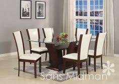 new 7 pc espresso or white glamour dining set w gl table top 6 chairs