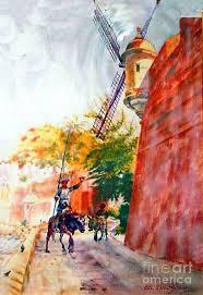 puerto rico painting don quixote in san juan by estela robles