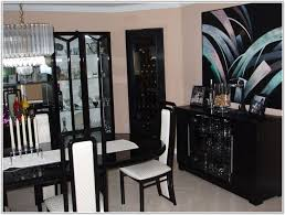 9pc italian black lacquer dining room set chair home furniture