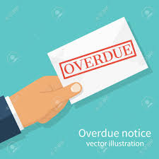 Hand Holding Letter Overdue Notice. Past Due, Final Notice. Junk ...