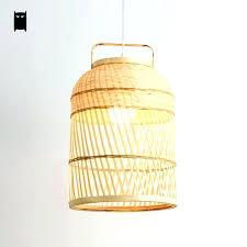 woven ceiling light woven pendant lamp hand woven round bamboo wicker rattan cage pendant light fixture woven ceiling light