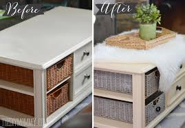 how to paint wicker baskets with chalk paint a coffee table